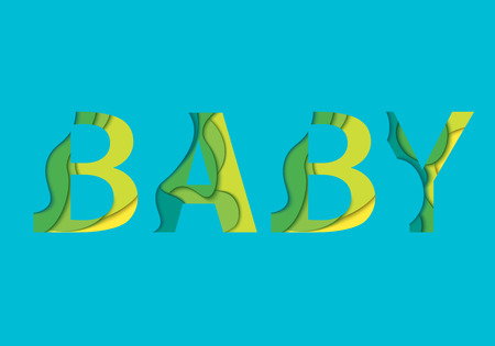 Baby word. For card and poster, baby design and scrapbooking. Ilustrace