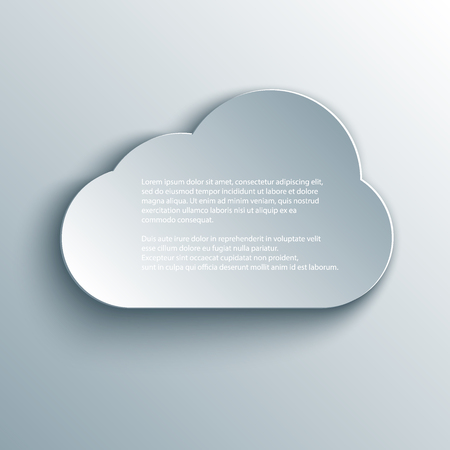 cloud design element in 3d, paper and origami style. Ilustrace