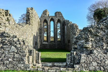 Inch Abbey, Game of Throne filming location in Northern Ireland, United Kingdom