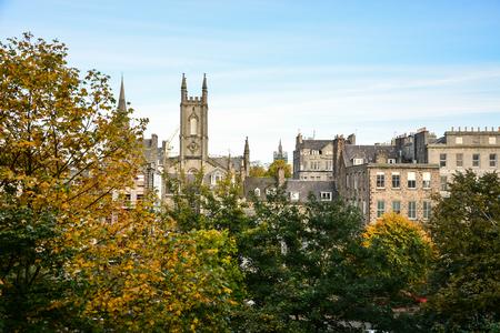 Herfst en Aberdeen stadslandschap, Aberdeen, Schotland, Verenigd Koninkrijk