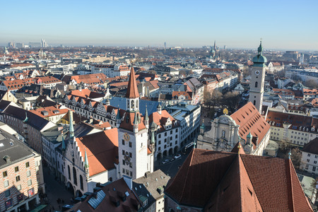 Munich Germany city top view, Munich , Germany. Cityscape, landscape
