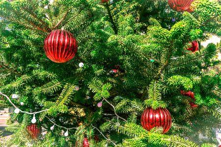 Fond de saison des fêtes. Fond de décoration de sapin de Noël Banque d'images - 91936301