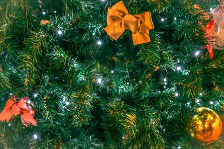 Festive Season background. Christmas tree decoration background