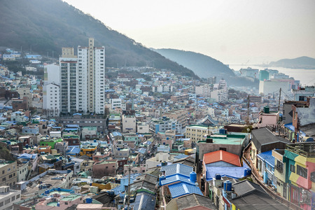 Gamcheon Culture Village, a model creative community and tourism village in Busan, South Korea Banque d'images - 102677454