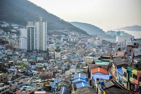 Gamcheon Culture Village, a model creative community and tourism village in Busan, South Korea Banque d'images - 102677455