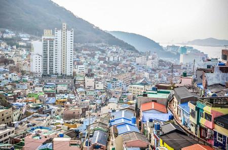 Gamcheon Culture Village, a model creative community and tourism village in Busan, South Korea Banque d'images - 102677452