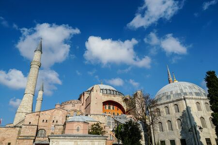 Architectural beauty of Hagia Sophia, Istanbul, Turkey Banque d'images - 134462297