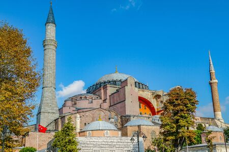 Architectural beauty of Hagia Sophia, Istanbul, Turkey Banque d'images - 134462319