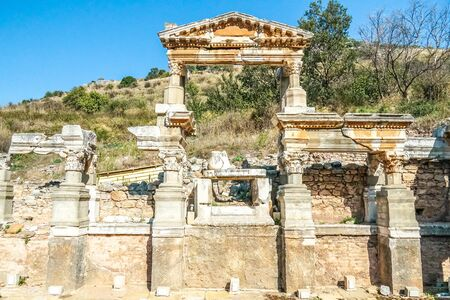 The ruined of the ancient city of Ephesus, Selcuk, Turkey Banque d'images - 134462363