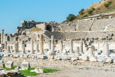 The ruined of the ancient city of Ephesus, Selcuk, Turkey