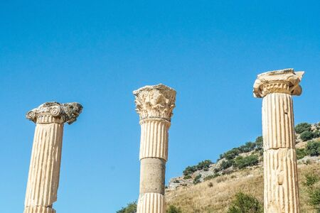 The ruined of the ancient city of Ephesus, Selcuk, Turkey Banque d'images - 134462378