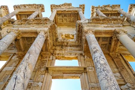 Library of Celsus, the ruined of the ancient city of Ephesus, Selcuk, Turkey Banque d'images - 134462382