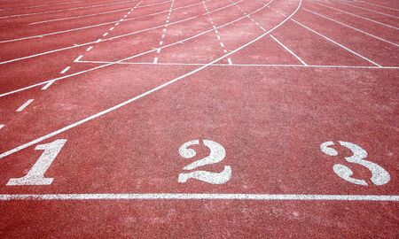 Background of running track surface with one to three with intersection lines