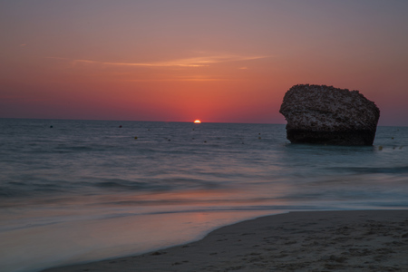 Landscape beach of Castilla Stock Photo