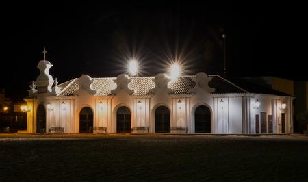 Night photography hermita del Rocio
