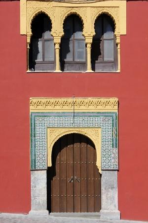 Facade of islamic motifs in Cordoba