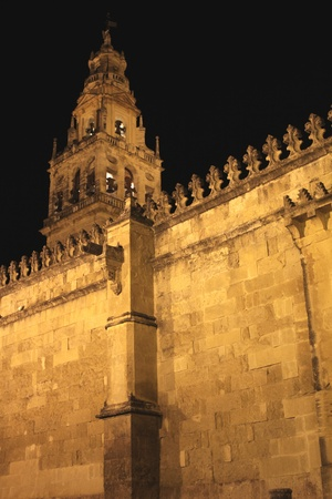 jewry: Wall and tower of the Mosque of Cordoba (Spain)
