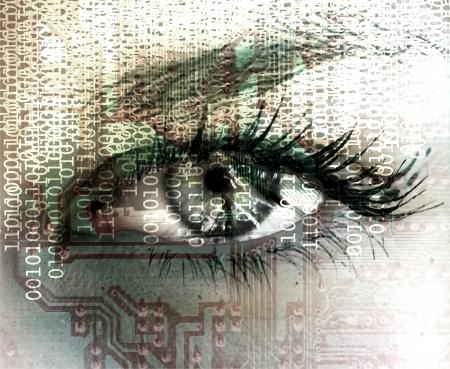 Cibernetic eye Stock Photo - 12541589