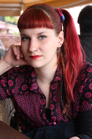 Young girl with red hair Stock Photo - 12807251