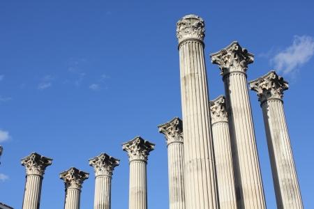 Columns of a Roman temple in Cordoba - Spain