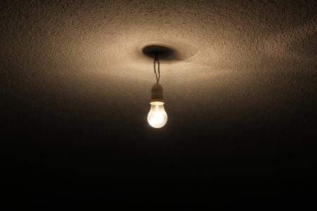 A cable hanging bulb Archivio Fotografico