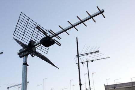 UHF Antenna Stock Photo