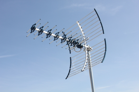 UHF Antenna Stock Photo