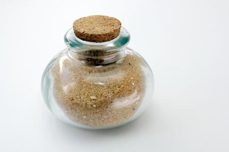 closed corks: Jar of sand
