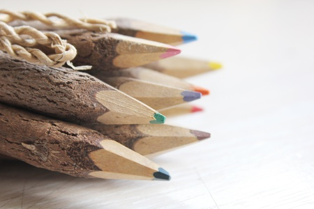Wooden pencils photo