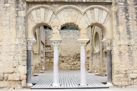 caliphate: Upper basilica building archaeological site of Madinat al-Zahra in Cordoba - Spain Stock Photo