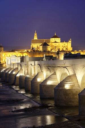 caliphate: Roman bridge and mosque of Cordoba - Spain