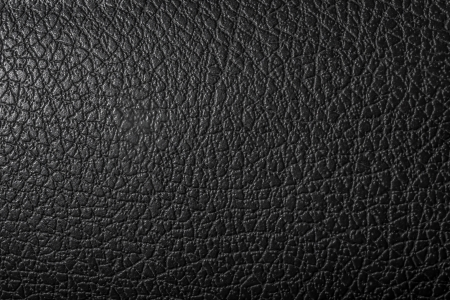Black synthetic leather photo