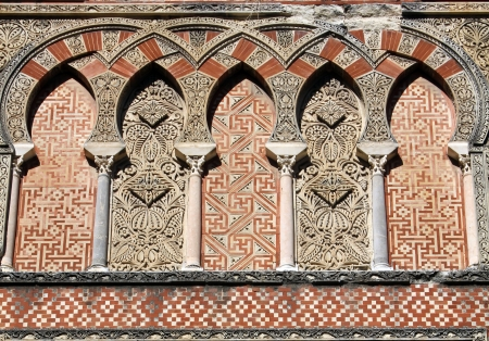 caliphate: Ornamentation of a door in the Mosque of Cordoba - Spain