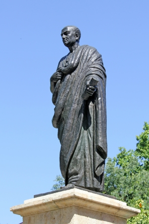 seneca: Statue of Seneca in Cordoba - Spain Stock Photo