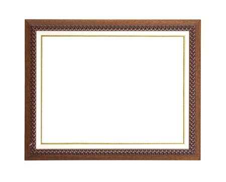 Brown picture frame photo
