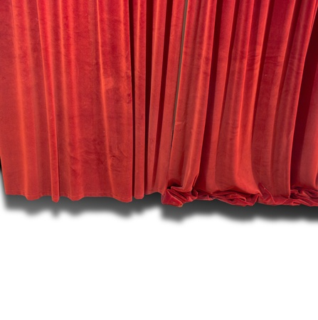Red Curtain isolated Archivio Fotografico
