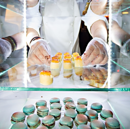 Hands of a pastry chef photo