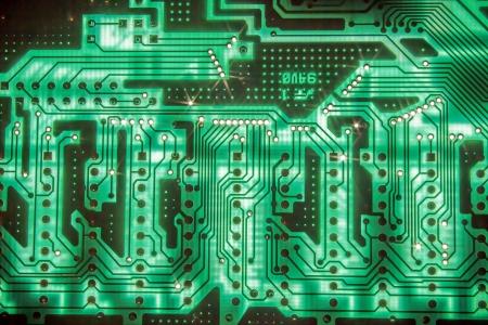 circuito electrico: Circuito el?ctrico Foto de archivo