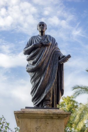 Statue of Seneca in Cordoba - Spain Stock Photo