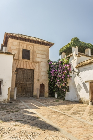 mudejar: Facade of the  House of the Jew  in the Jewish quarter of Cordoba - Spain Stock Photo