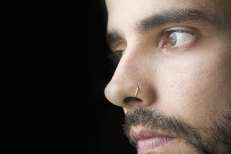 Close-up of a young man with beard Archivio Fotografico