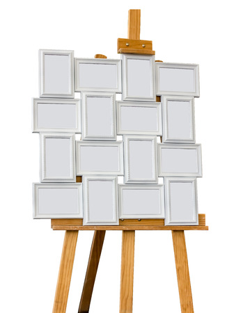 Picture frame on a easel  photo
