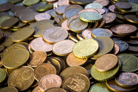 cents: Coins background cents Stock Photo