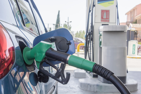 Refueling gasoline in a car