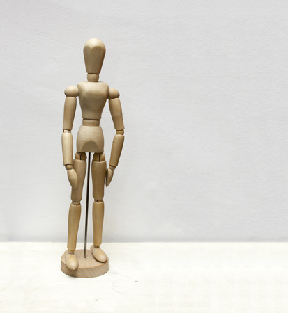 jointed: Wooden jointed doll Stock Photo