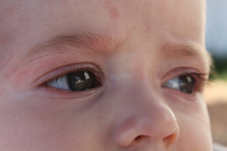 Looking at a baby