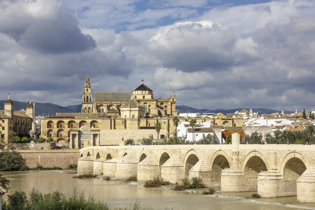 caliphate: Mosque and Roman Bridge in Cordoba - Spain