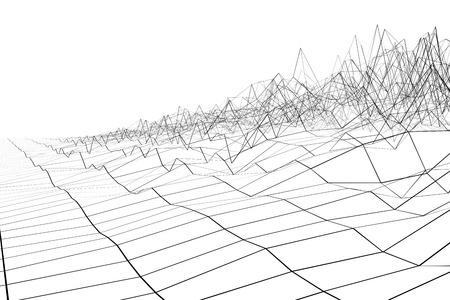 waveform: Black grid waveform on white background