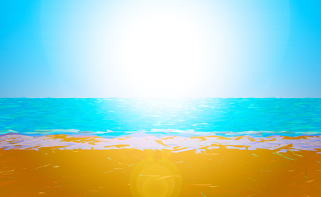 low poly: Low poly beach