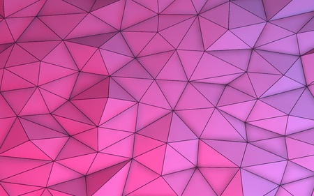 3D illustration - Pink low poly texture